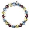 Vintage Jonquil Crystal Cuff Bracelet - Botanical
