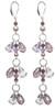 Lavender Crystal Shoulder Duster Earrings - June