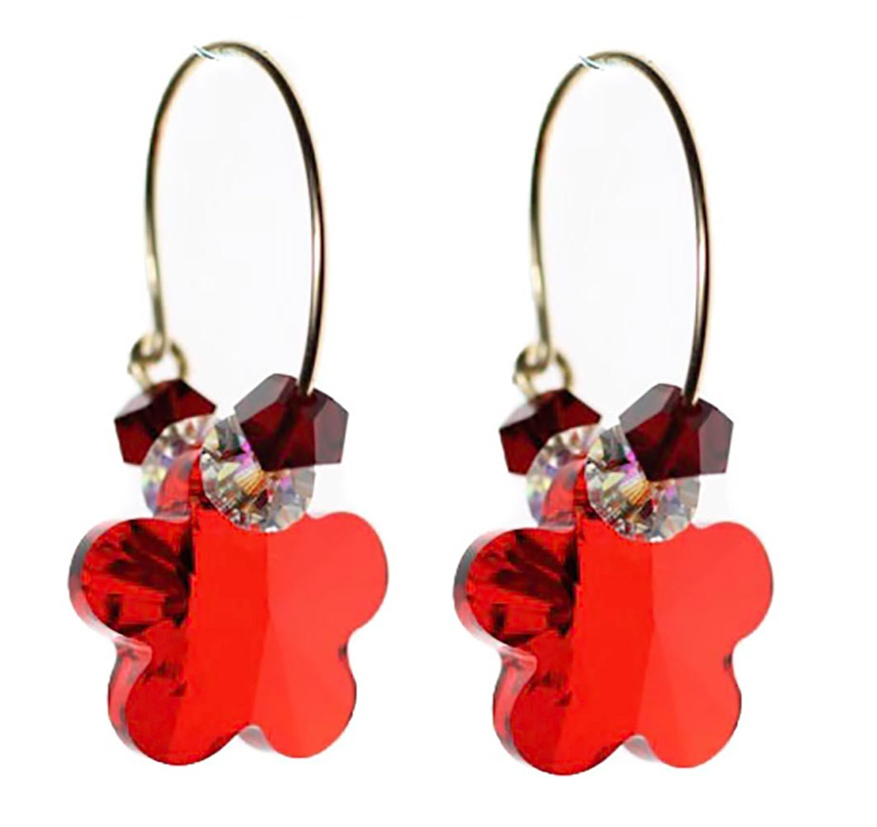 Red Crystal Earrings Valentine S Day Jewelry Karen Curtis Nyc
