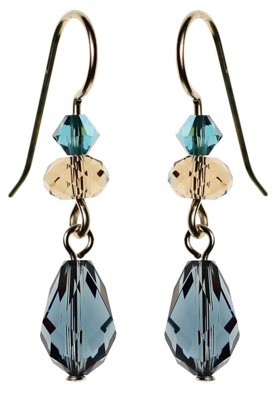 98ad867f5 Montana Blue Swarovski crystal drop earrings • 14K gold filled ...