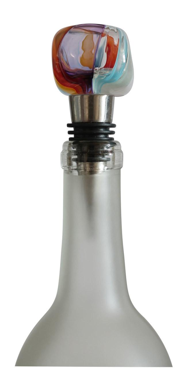 Crystal Bottle Stopper Emerald Diamond Glass Wine Stopper Elegant Decor Ornament