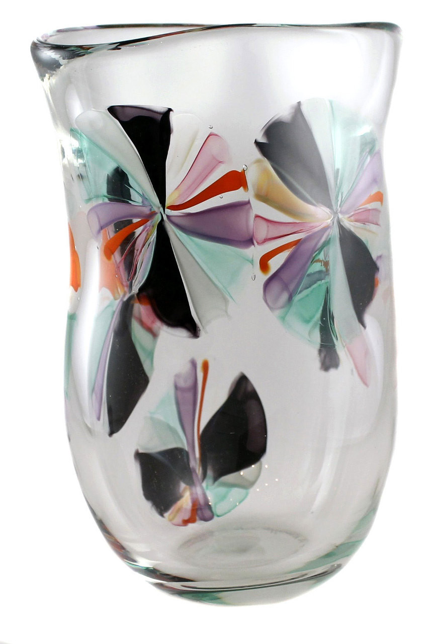 Artistic hand blown glass vase made in NYC by the Karen Curtis Company  sc 1 st  Karen Curtis & Colorful One of a Kind Hand Blown Art Glass Flower Vase \u2022 Made in ...