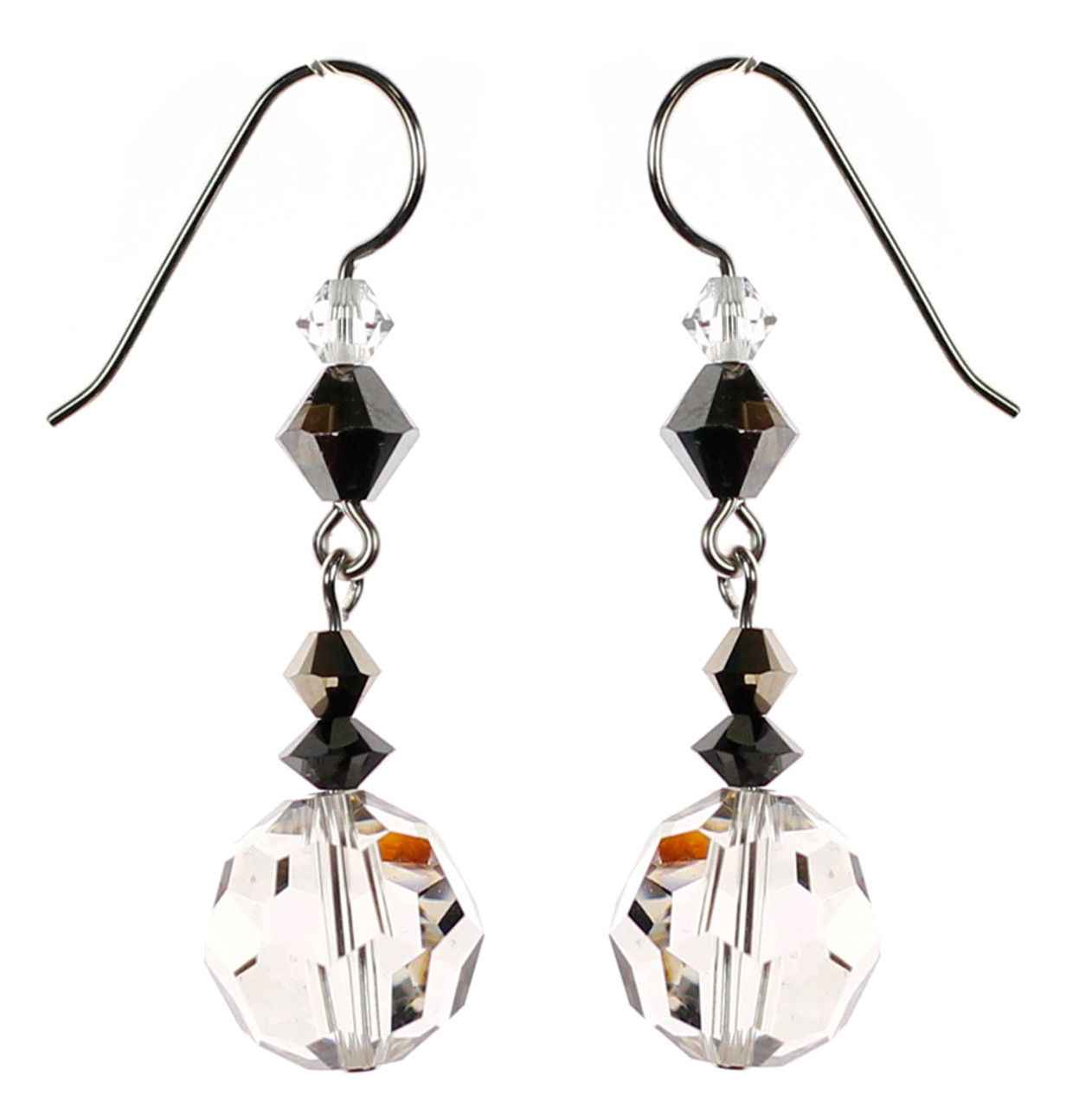Formal Event Earrings Swarovski Crystal Moonlight Earrings Karen