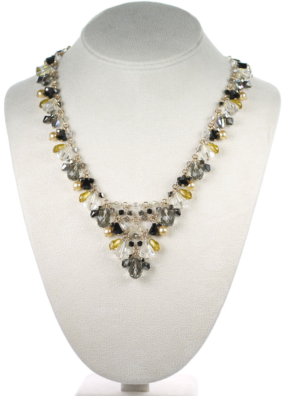 bc2b2088269b7 Statement V Style Necklace - Gatsby Collection