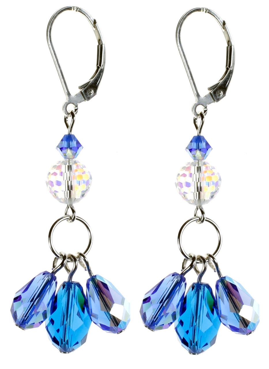 Blue Dangle Earrings - September Birthstones