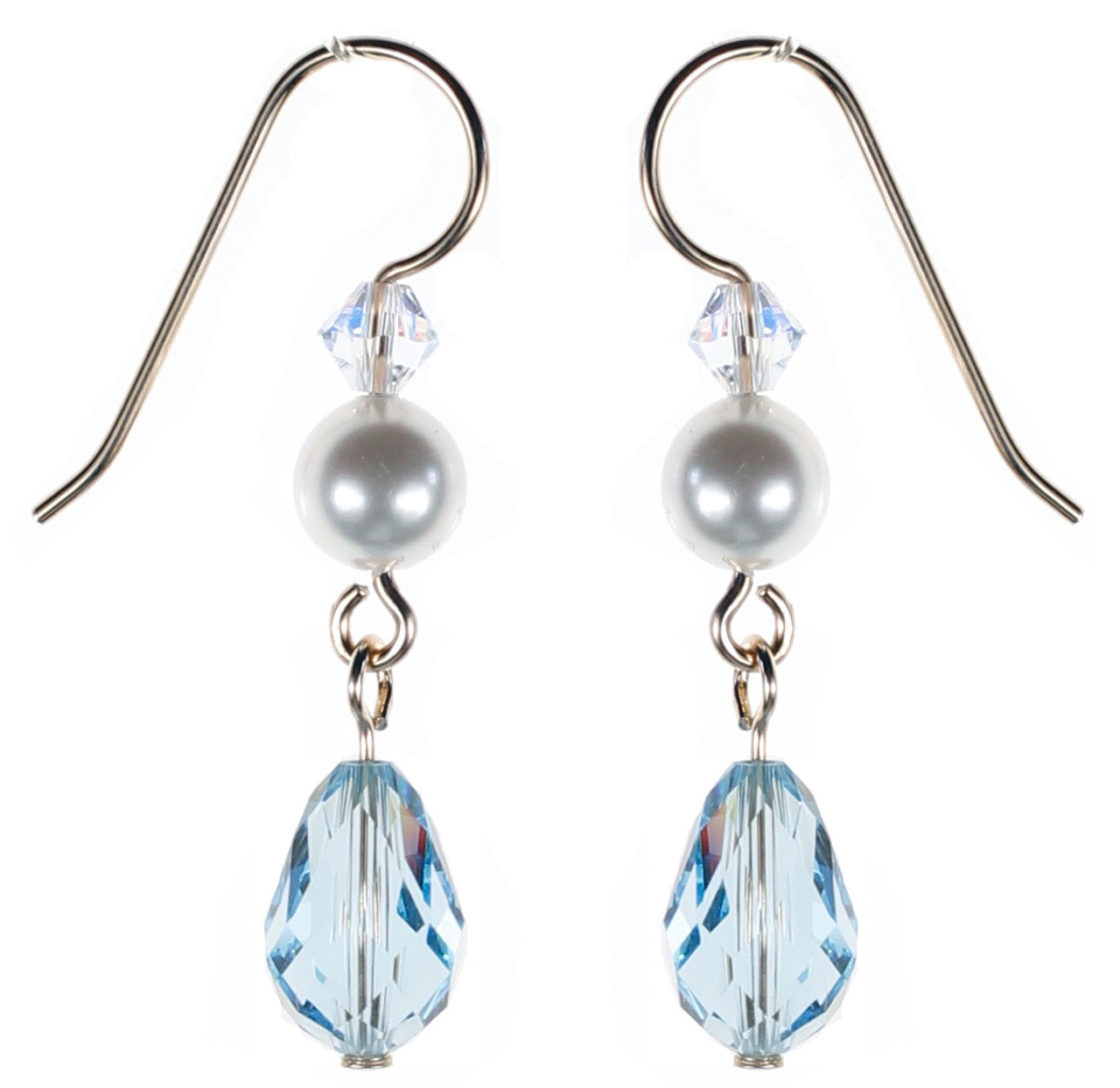 36e697244 DANGLING BLUE CRYSTAL EARRINGS • AQUAMARINE MARCH BIRTHSTONE JEWELRY • KAREN  CURTIS NYC