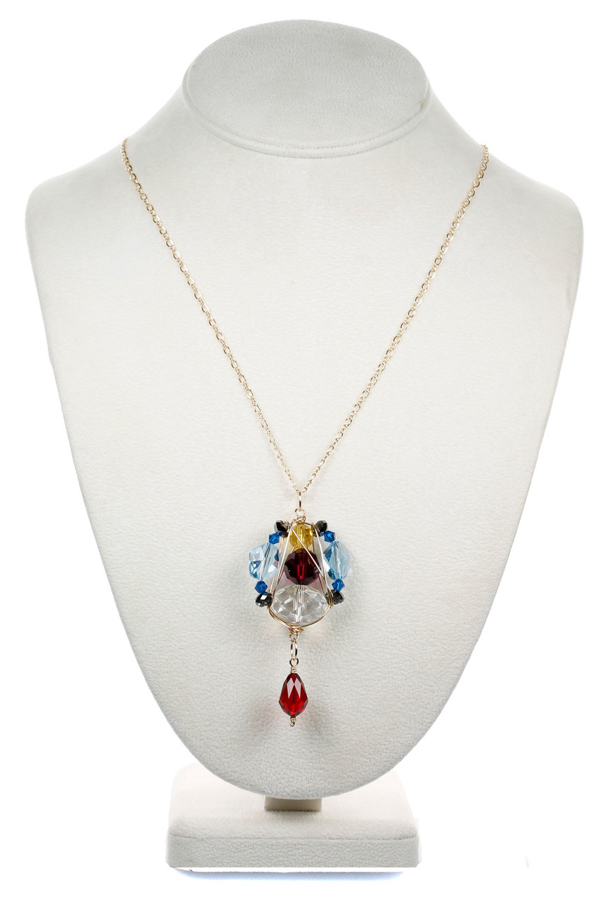 621c11a9e COLORFUL CHUNKY PENDANT NECKLACE • CRYSTALS FROM SWAROVSKI • KAREN CURTIS  NYC