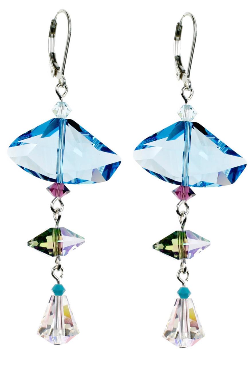 Geometric Earrings - Seaside