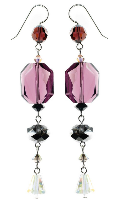 Beautiful shoulder duster earrings with rare swarovski crystal