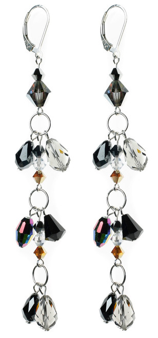 Rare Swarovski crystal earrings by Karen Curtis