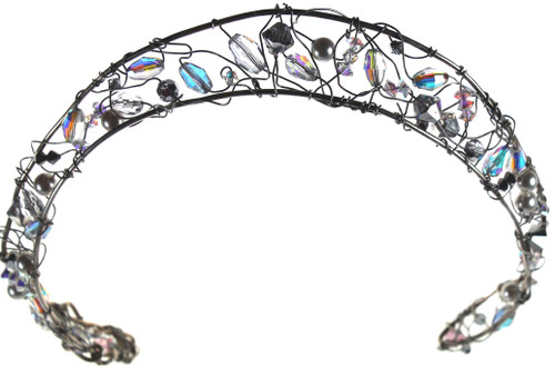 Beautiful unique and customized tiara with SWAROVSKI ELEMENTS and sterling silver
