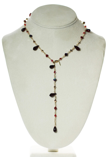 Crystal Versatile Necklace - Red Jewelry