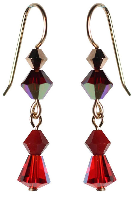Limited edition red crystal earrings