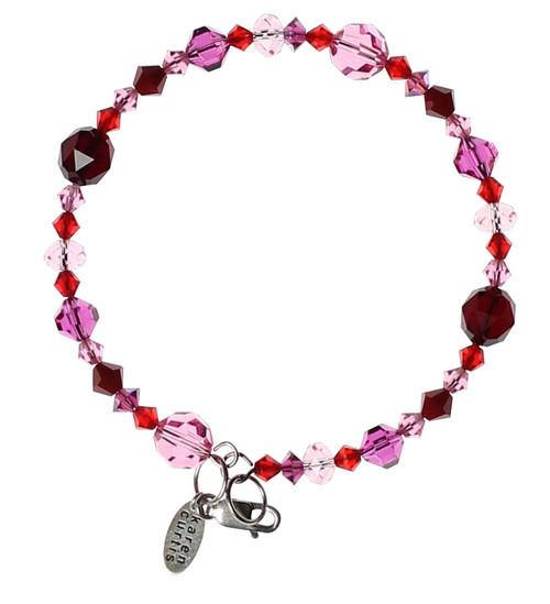 Red & Pink Stackable Bangle Bracelet