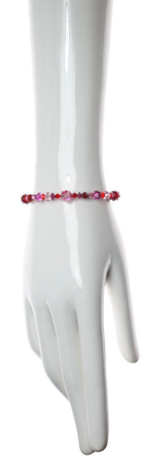 Red & Pink Stackable Bangle Bracelet