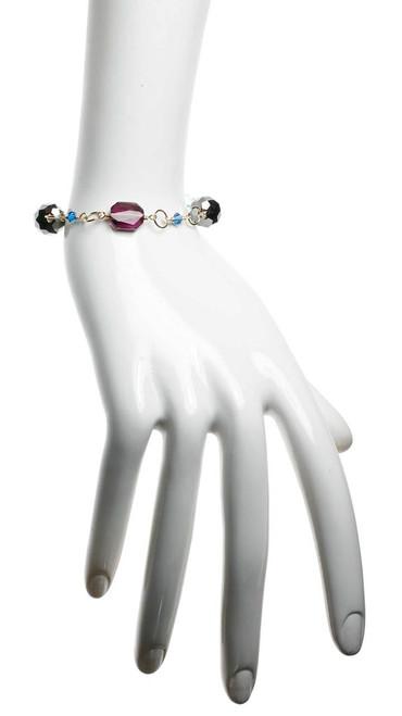 14K gold filled wire wrapped crystal bracelet with rare Swarovski