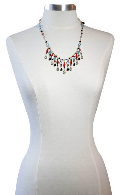 One of a kind crystal necklace - Navajo collection
