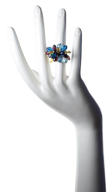 Cocktail Ring • 14K gold filled & Crystals from Swarovski • Navajo Collection by Karen Curtis NYC