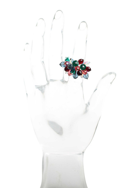 Sterling Silver Cocktail Ring with Crystals from Swarovski • Vanguard