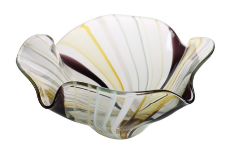 This one of a kind hand blown glass bowl