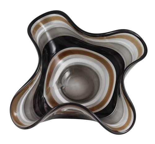 Safari inspired One of a Kind Hand Blown Art Glass Centerpiece - Bowl