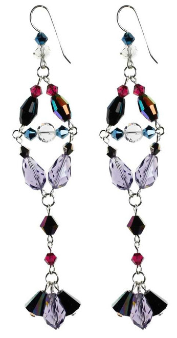 Divine style Swarovski crystal sterling silver earrings.