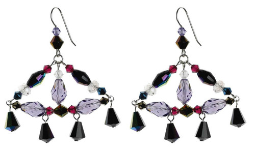 Chandelier earring with sterling silver and Swarovski crystal