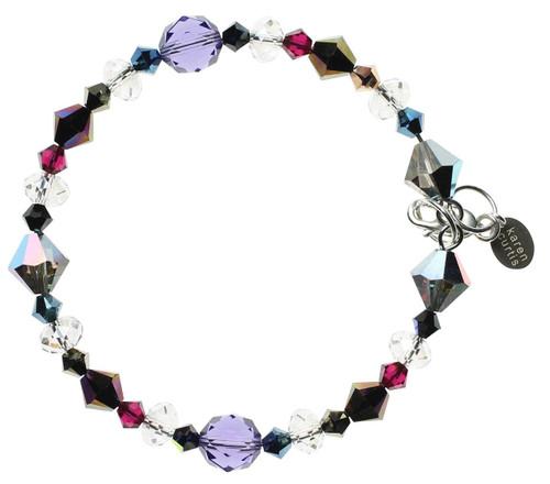 Sterling Silver Swarovski Crystal Bangle Bracelet with Swarovski crystal