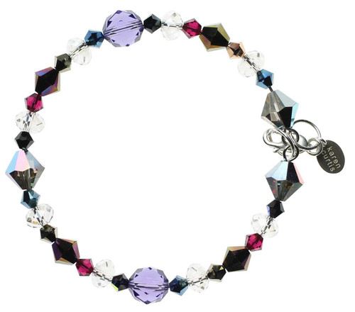 Sterling Silver Swarovski Crystal Bangle Bracelet with Swarovski crystal