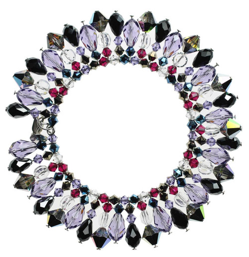 Martini Bracelet with light purple and black crystal