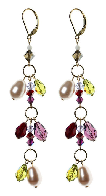 Swarovski crystal shoulder duster earrings