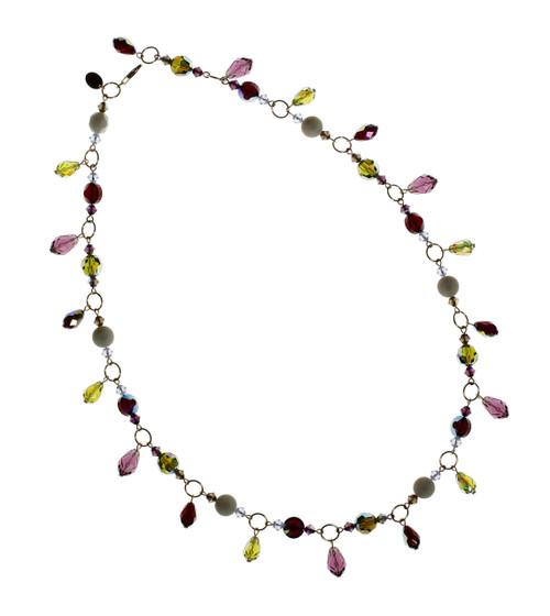 14K Gold Filled Vintage Swarovski Crystal Single Drop Necklace • Bohemian Chic Collection