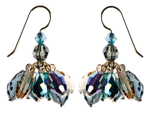 Mini chandelier crystal cluster earrings
