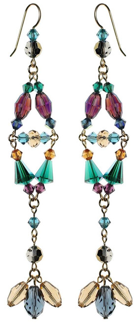 Divine style long crystal earrings