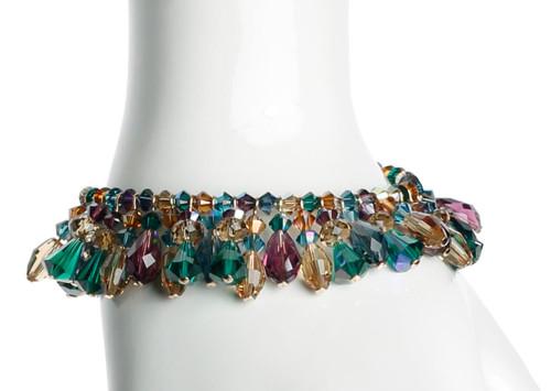 Swarovski Crystal Martini Bracelet with Vintage Swarovski and 14K Gold Filled Metal  • Treasure Chest