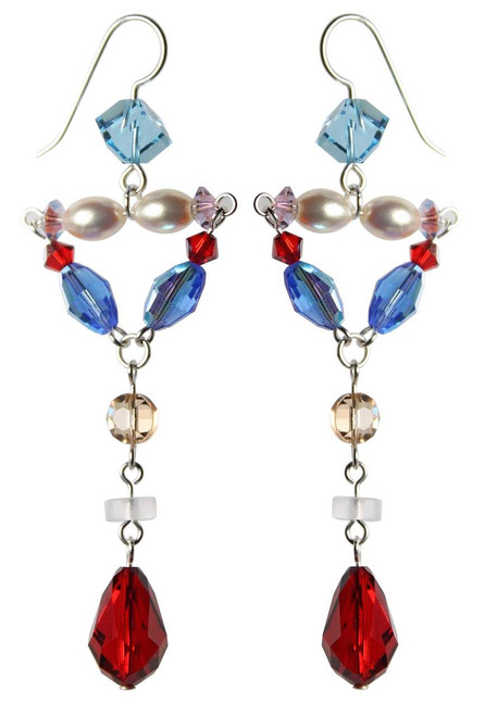 Sterling Silver Simply Divine Swarovski Crystal Limited Edition Statement Earrings • Sailing