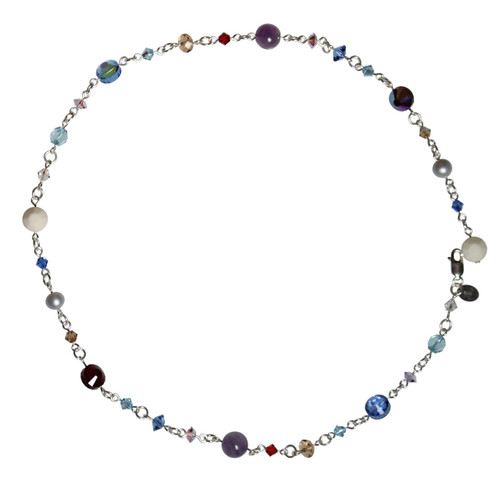 Colorful Swarovski crystal necklace