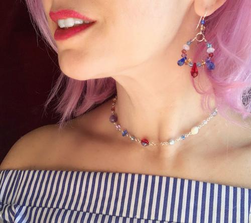 Sterling Silver Single Strand Swarovski Crystal Necklace - Sailing Collection