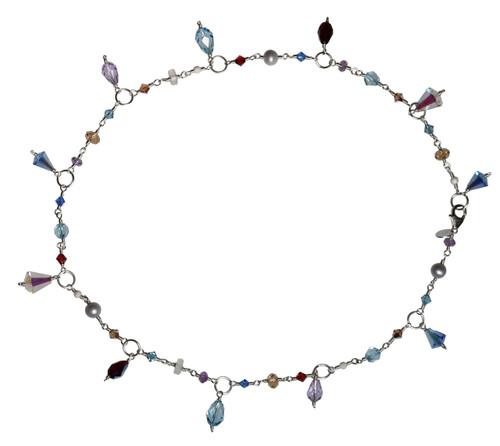 Crystal droplet necklace