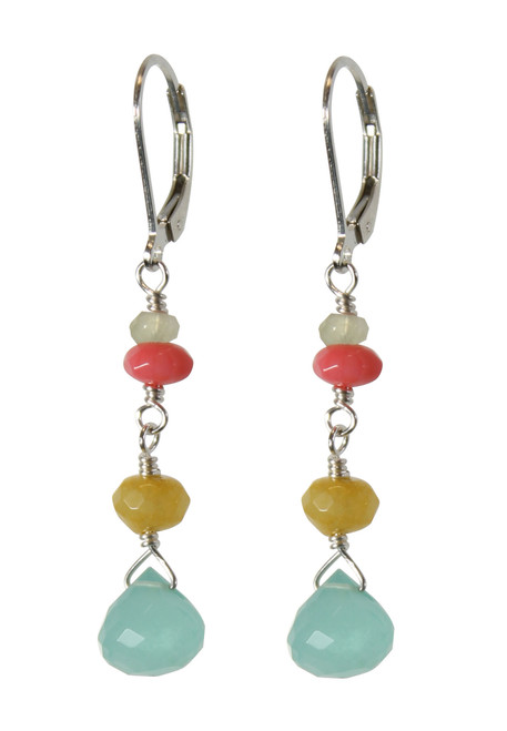 Semi precious colorful earrings