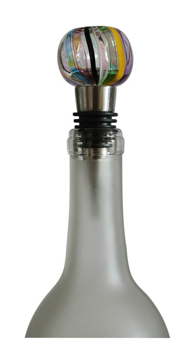 Hand Blown Glass Bottle Stopper by Karen Curtis NYC