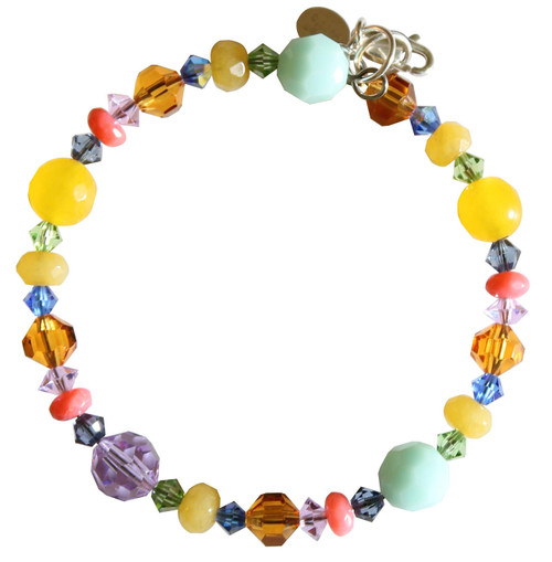 Swarovski Crystal and Semi Precious Pastel Stackable Bracelet - Aruba Collection