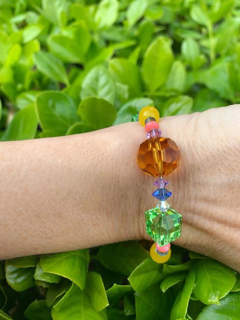 Swarovski Crystal Chunky Stackable Bracelet - Aruba Collection