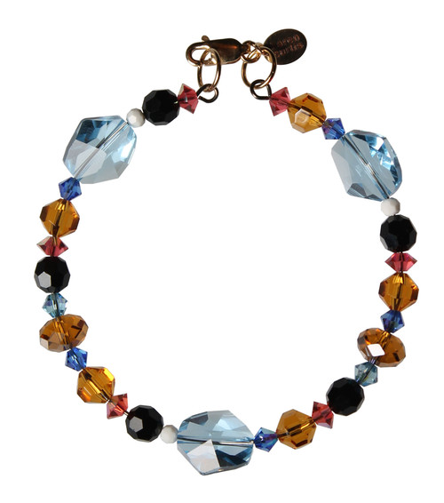 Swarovski Crystals Multi Colored Western Bangle Stacking Bracelet - Urban Cowgirl
