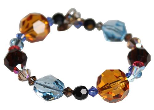 Swarovski Crystals Multi Colored Western Chunky Bangle Bracelet - Urban Cowgirl