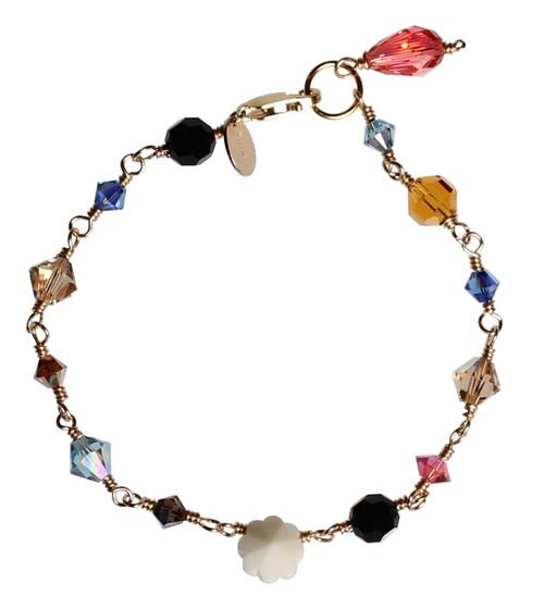 Swarovski Crystal & 14K Gold Filled Metal Wire Wrapped Western Bracelet - Urban Cowgirl