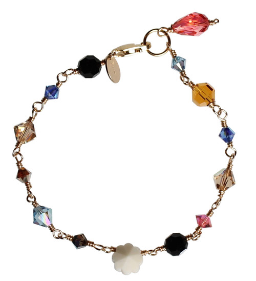 Swarovski Crystal & 14K Gold Filled Metal Wire Wrapped Western Bracelet - Urban Cowgirl