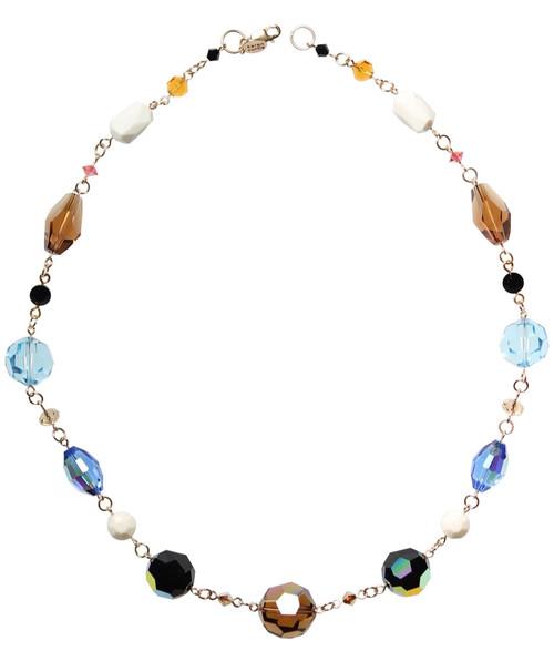 14K Gold Filled Swarovski / Vintage Swarovski Chunky Simple Crystal Necklace - Urban Cowgirl