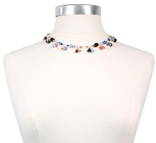 14K Gold Filled Swarovski / Vintage Swarovski  Double Drop 3 in 1 Crystal Necklace - Urban Cowgirl