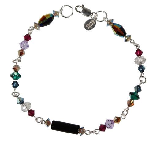 Limited Edition Sterling Silver Swarovski Crystal Multi Colored Bracelet - City Chic